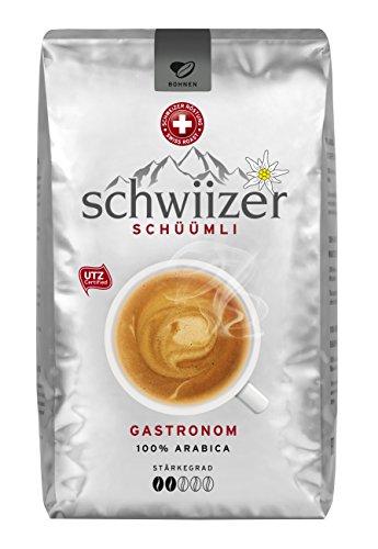 Schwiizer Schüümli Gastronoman, ganze Kaffeebohnen