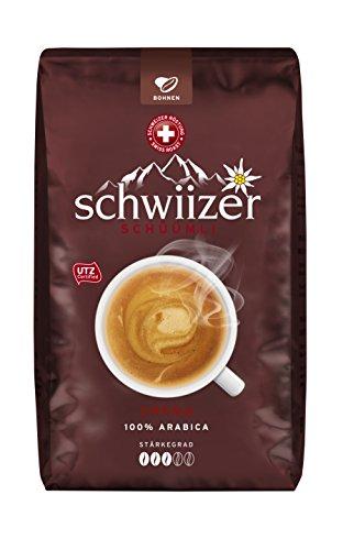 Schwiizer Schüümli Crema, ganze Kaffeebohnen, 1kg