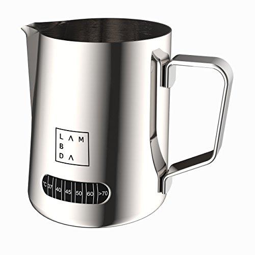Lambda Coffee Milchschaumkännchen mit Temperaturanzeige